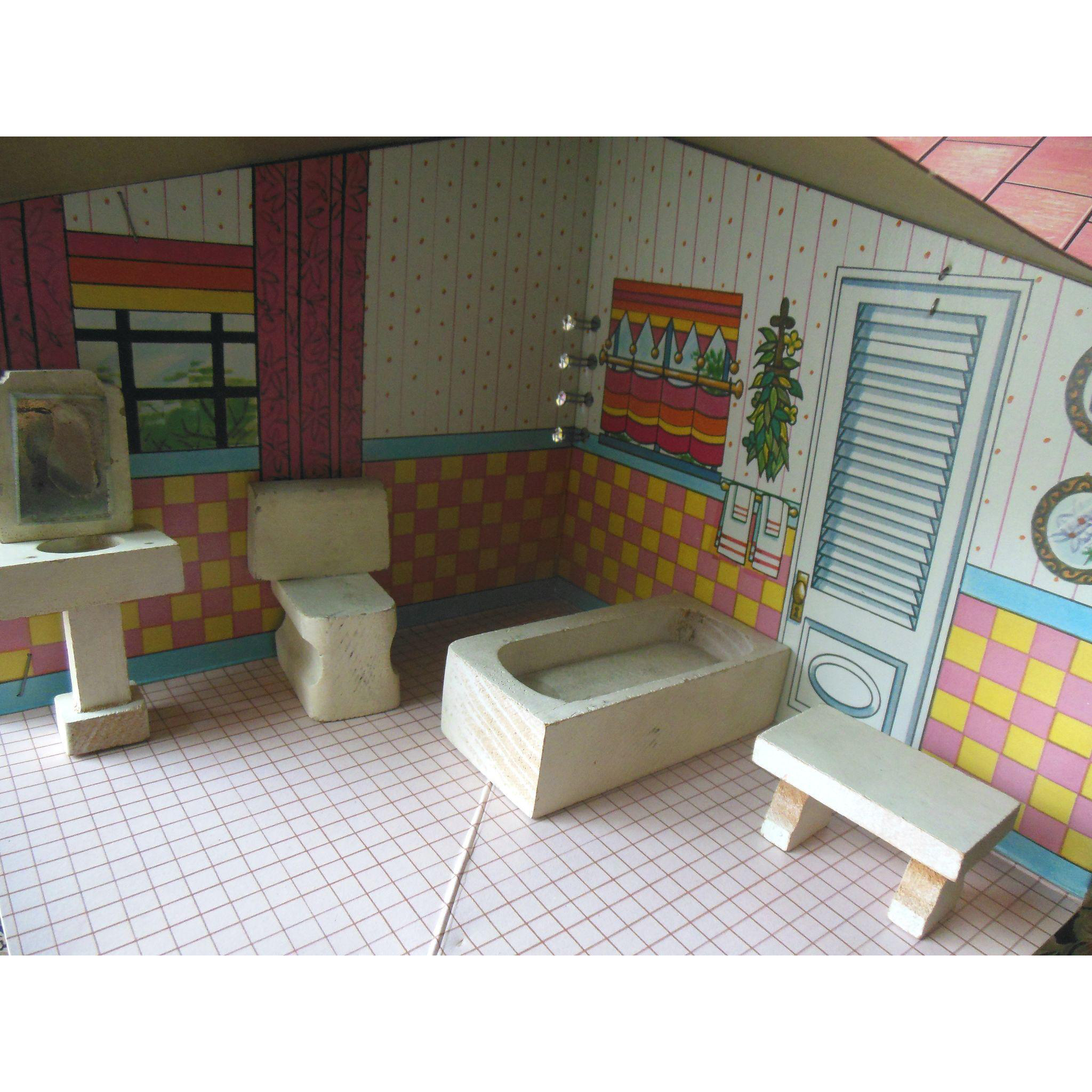 Vintage Kage Dollhouse Bathroom Furniture Set From Valeriezakantiquescollectables On Ruby Lane