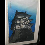 1st Edition Modern Mori Shuncho Hirosaki Castle Japanese Woodblock Print