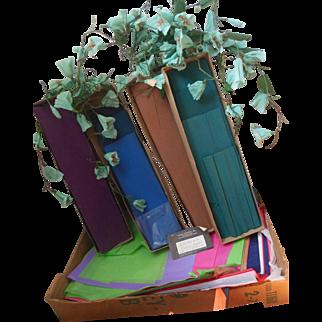 Vintage Dennison Crepe Paper Flower Making Party Decoration Box Lot