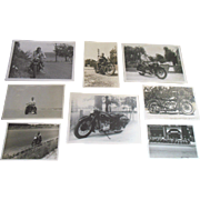 Vintage 1930s Harley Davidson Indian Motorcycle Photograph Lot