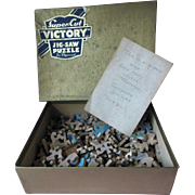 Vintage Victory Wood Jigsaw Puzzle Cape Cod Harbour Scene Complete