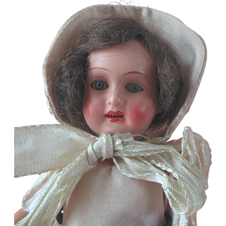 Antique German Character Doll with Flapper Body Original Southern Belle Clothing