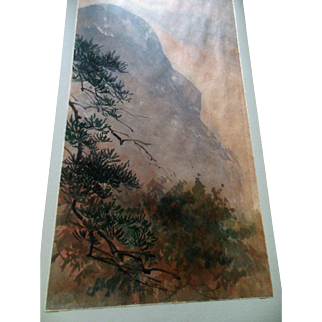 CHINESE Landscape Painting signed Exceptional and Vintage