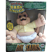Disney Dinosaurs Baby Sinclair Plush Pull String Toy in Original Box NRFB 1991
