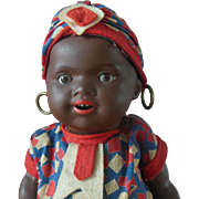 Antique AM 362 Black Americana Ethnic Character German Bisque Head Doll