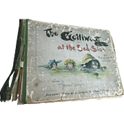 1898 Golliwog at Sea Side Antique Black Cloth Doll Book with Wood Dutch Wooden Doll Illustrations