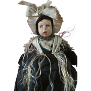 Antique Lenci Cloth Doll in Original Clothes with Label
