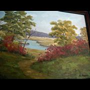 Vintage Essex Cape Ann North Shore Massachusetts Oil Painting signed