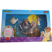 Vintage Walt Disney's Beauty and the Beast Bend Ems 5Pc Gift Set Justoys Mint in Box
