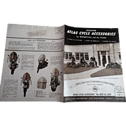 Old Harley Davidson Motorcycle Cyclist Atlas Cycle Accessories Catalogue