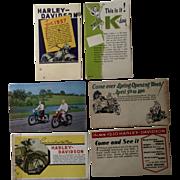 Old Harley Davidson Motorcycle Postcard Lot