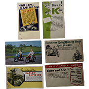 Old Harley Davidson Motorcycle Postcard Lot