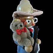 Steinbach Teddy Bear Theodore Roosevelt Christmas Wood Doll Nutcracker Vintage German 1990s