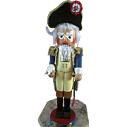Steinbach George Washington Christmas Wood Doll Nutcracker Vintage German 1990s