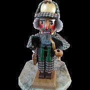 Vintage Sherlock Holmes Steinbach Christmas Nutcracker with Tag