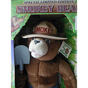 1994 Smokey The Bear Teddy Bear Limited Edition 50th Anniversary Over 21 Inches Tall