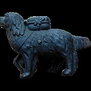 A. C. Williams Cast Iron Saint Bernard Dog with Rescue Bag Coin Still Bank