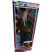 "President William (Bill) Jefferson Clinton 12"" Talking Collectible Celebrity Figure Doll NRFB"