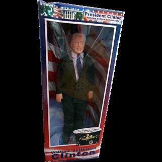 "President William (Bill) Jefferson Clinton 12"" Talking Collectible Celebrity Figure Doll NRFB"