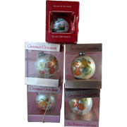 "5 Vintage Hallmark Christmas Ornament Mary Hamilton ""Heavenly Days"" 1975"