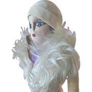 Vintage 1930s Boudoir Bed Style Cloth Art Deco Roaring Twenties Flapper Doll