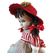 "Sweet 18"" Vintage 1940 Madame Alexander Margaret O'Brien Composition Doll tagged in seldom seen outfit"