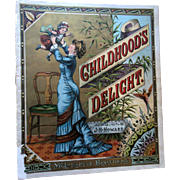 Antique McLoughlin Childhood's Delight Childrens Book Vibrant Lithographed Pages