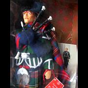 Peggy Nisbet Scottish Piper Royal Highlanders Tartan Kilt Doll Figure Black Watch Mint in Box