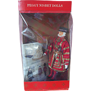 Vintage Peggy Nisbet Beefeater Yeoman Warder Queen's Guard Doll Figures Mint in Box Booklet Wrist Tag