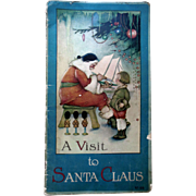 Antique A Visit To Santa Clause Book Margaret Evans Illustrated Children's Book by Evans Price 1919