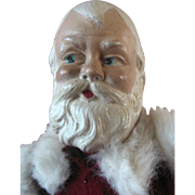 Vintage Santa Clause Christmas Composition Rattle Doll mkd. Rosbro Plastic Boots