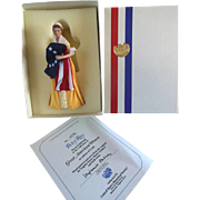 Great American Women Half Doll Betsy Ross COA US Historical Society MIB