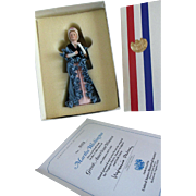 Vintage Great American Women Half Doll Martha Washington COA US Historical Society MIB