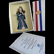 Vintage Great American Women Half Doll Martha Washington COA US Historical Society MIB