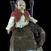 Izannah Walker appearance Vintage Cloth Doll