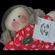 Vintage Cuddly Tutu Nene Hawaiian Cloth Doll Mint in Box