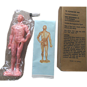 Old Vintage Asian Acupuncture Doll Mint in Box