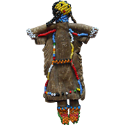 Old Vintage Hide Beaded Zuni American Indian Doll