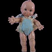 """Vintage 13""""  Sleep Eyes Kewpie Hard Plastic Doll by Cameo 1960's"""