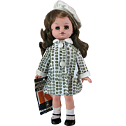 Vintage Kehagian Kexayiac Vinyl Greek Doll Mint with Wrist Tag School Girl Outfit with Tam