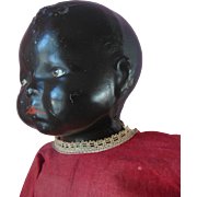 """Rare Black Americana Honey Child Bye Lo Type Composition 24"""" Doll in original clothes"""