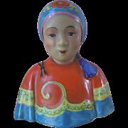 Vintage Asian Chinese Female Figure Bust Zeng Longsheng Studio? Republic