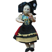 "Unusual 5"" Antique Steiff Cloth Felt Doll"