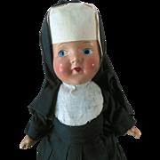Composition Nun Religious Doll 1930s Excellent Condition