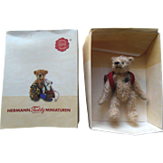 "Mohair 4"" Jointed Hermann Teddy Bear with School Bag Backpack MIB"