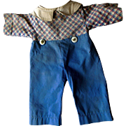 Early 1920s Raggedy Andy Cloth Doll Clothes Pants Outfit