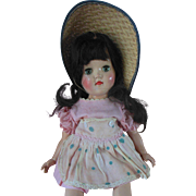 1950s Ideal Toni Doll P 90 in original clothes rosy cheeks