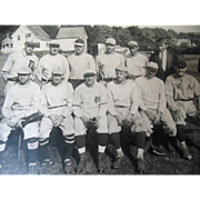 Antique Vintage Red Socks Yankee Baseball Team Photograph