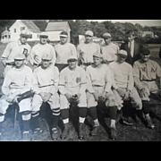 Antique Vintage Red Socks Yankee Baseball Team Photograph