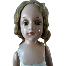 """Vintage 18"""" R&B Arranbee Debuteen Composition Doll 1930s"""